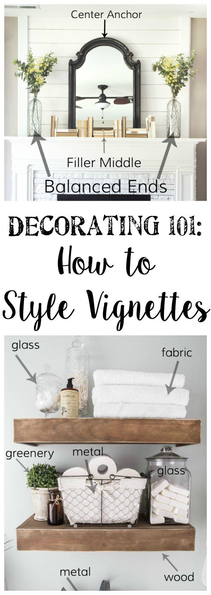 Decorating 101   Vignette Styling