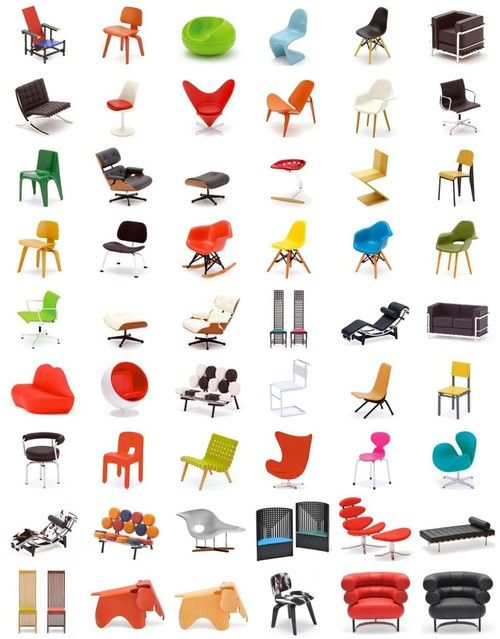 mid-century modern classic chairs | products i love | pinterest