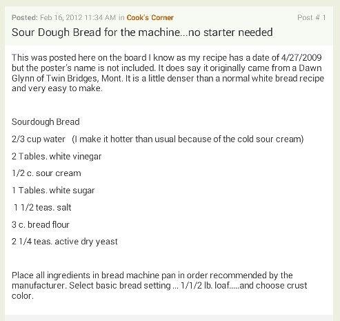 Faux sourdough bread
