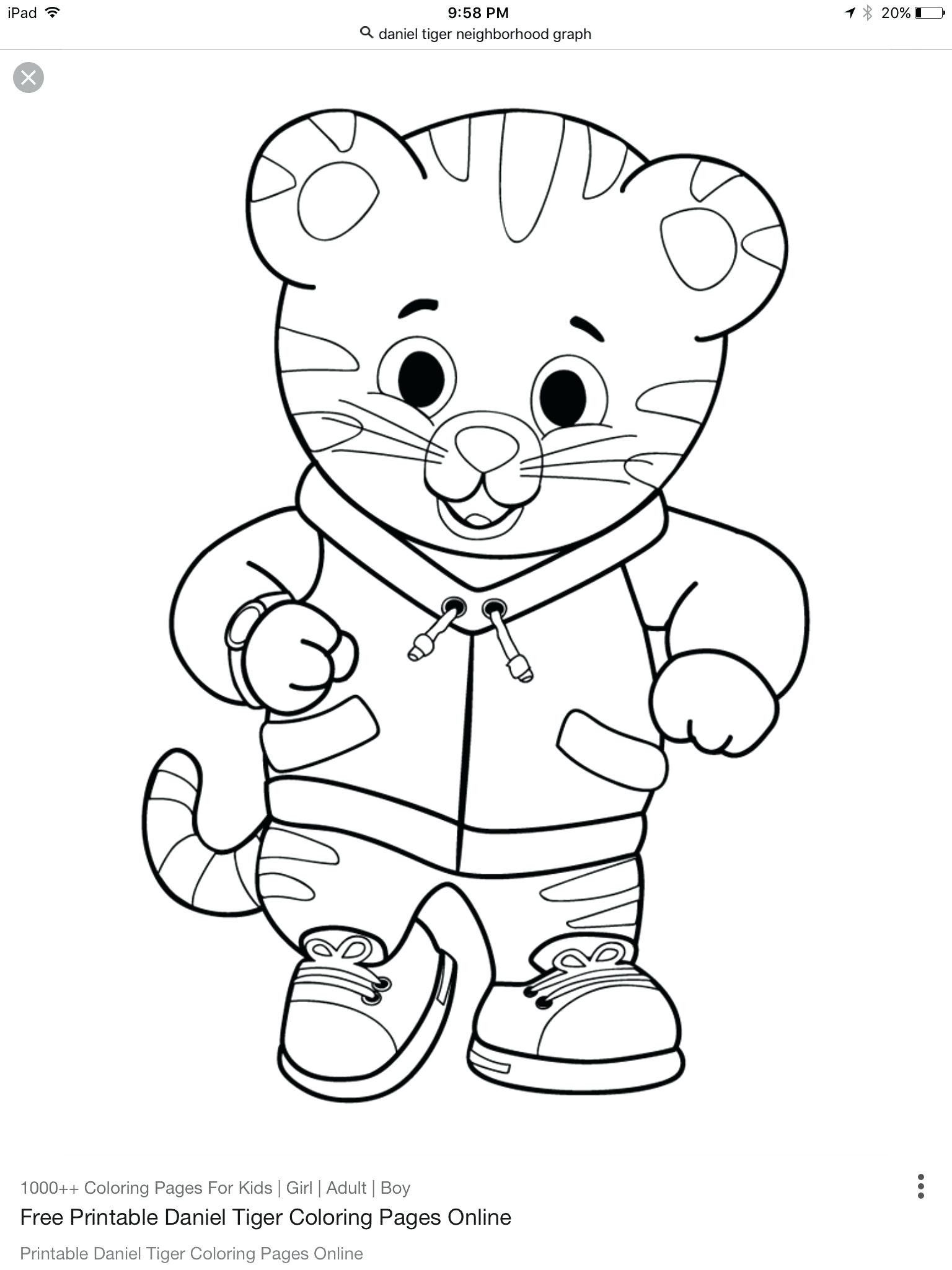 Daniel Tiger Coloring Pages Awesome Dear Daniel Coloring