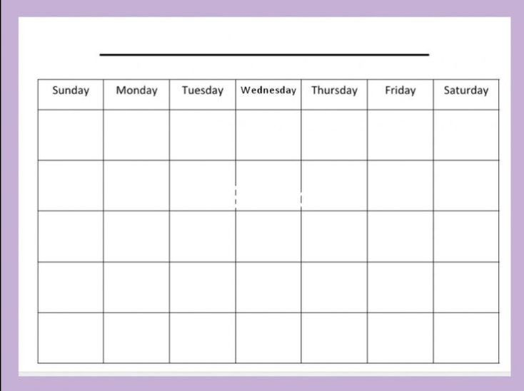 Academic Blank Calendar Word Template Free Monthly Printable