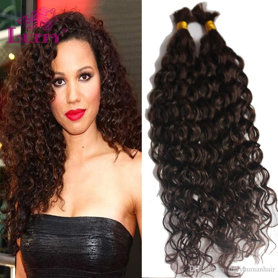 100 Virgin Indian Human Hair Weaves No Weft Kinky Curly Wave 16