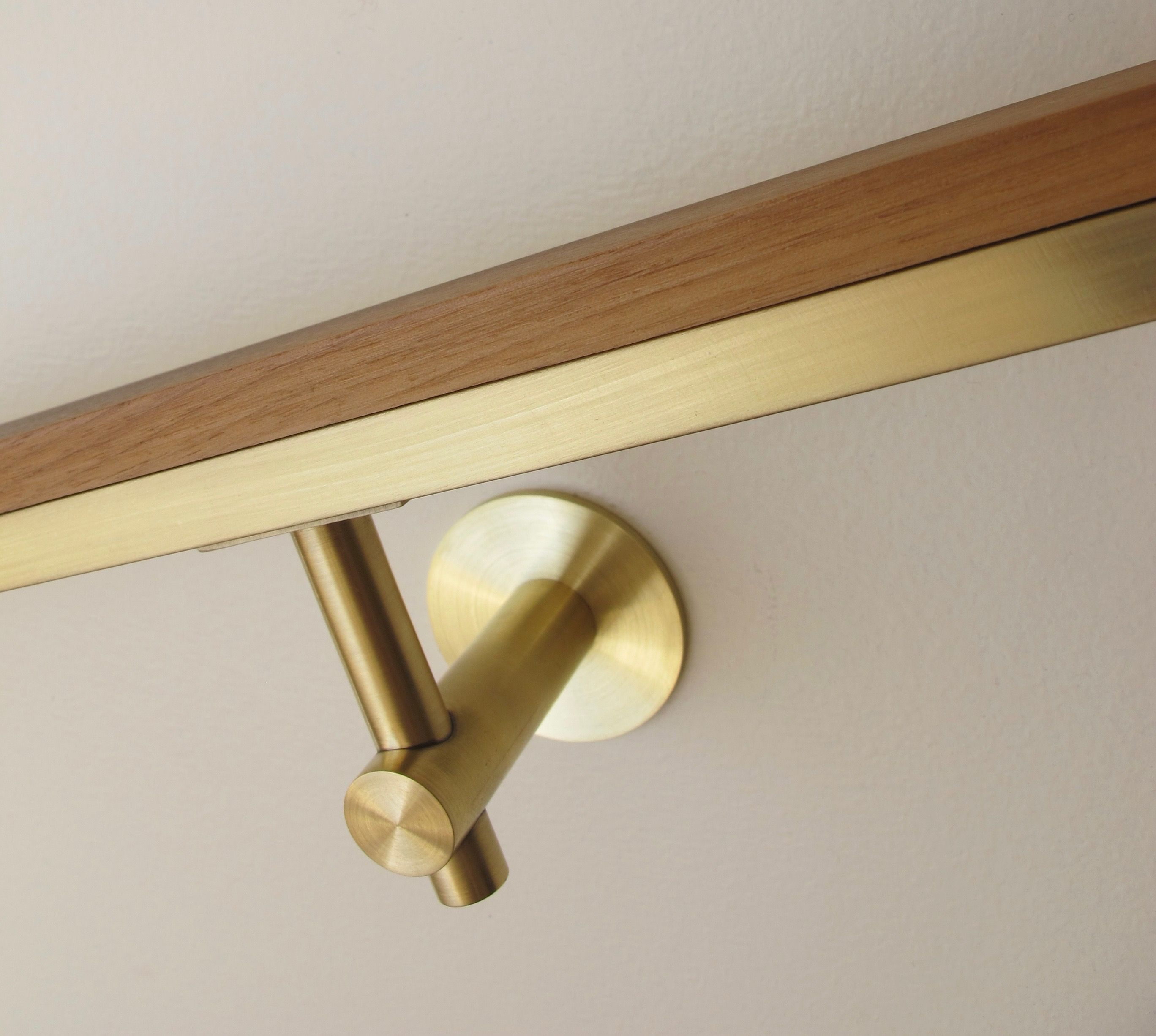 Best Brass 522R Bracket Round Post Handrail Bracket In Brushed 400 x 300