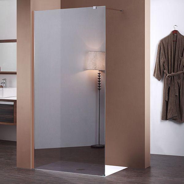 100 cm avec miroir Paroi de douche fixe 8 mm BAYA