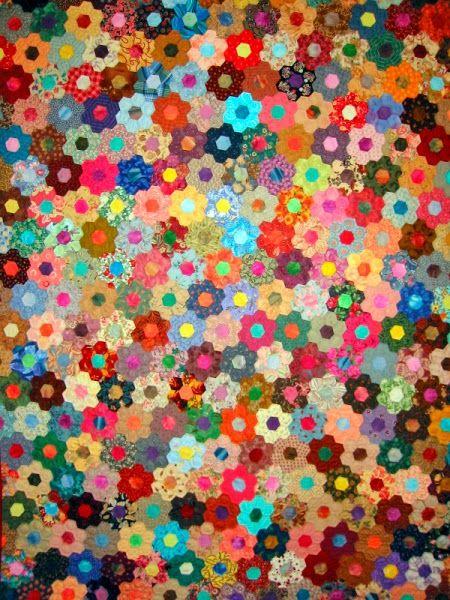 grandmother u0026 39 s flower garden quilt by masako