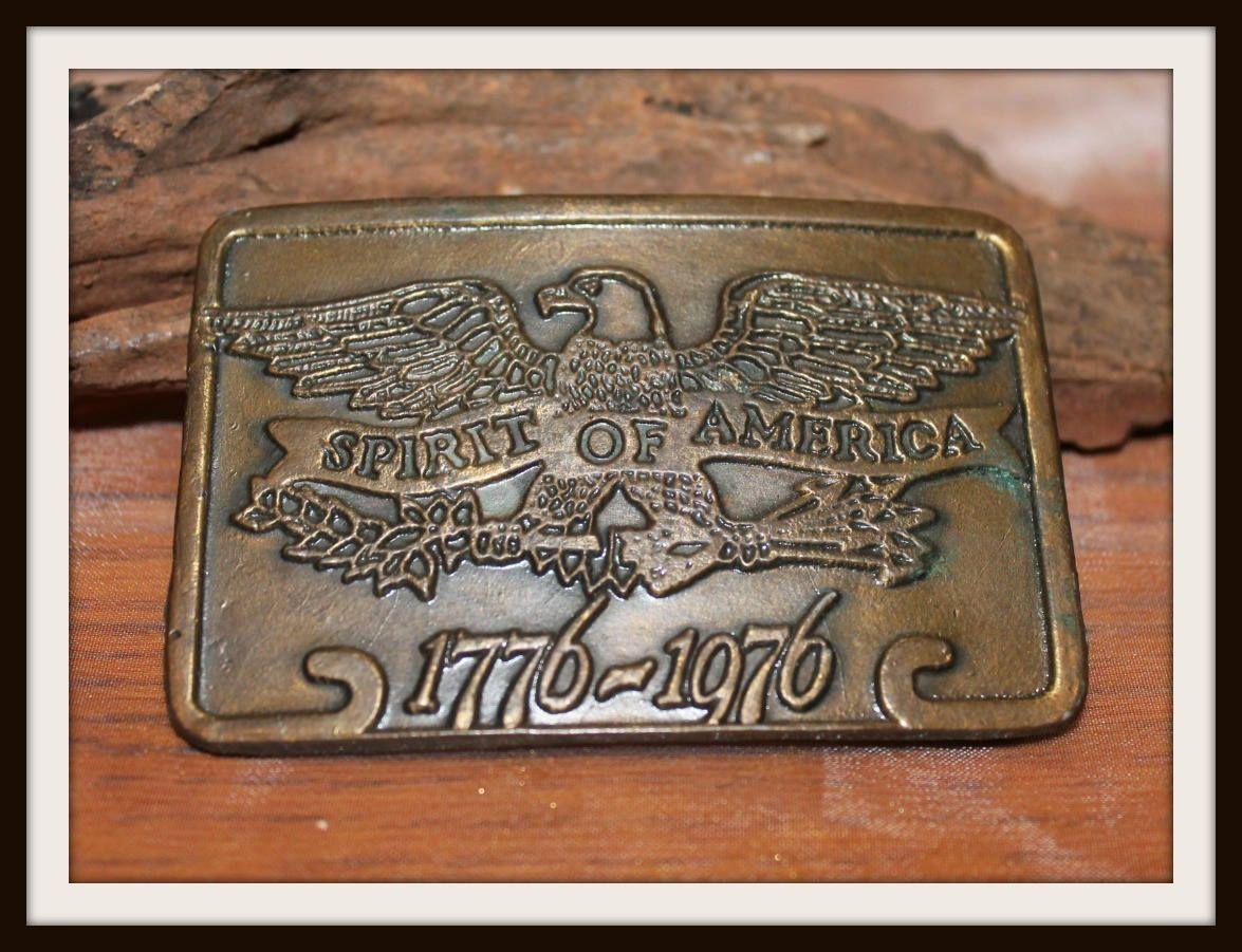 Vintage Bicentennial American Eagle Belt Buckle 1776-1976