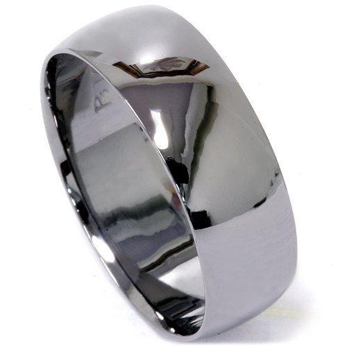 Mens 14k Black Gold 8mm High Polished Wedding Ring Band Size 4 12