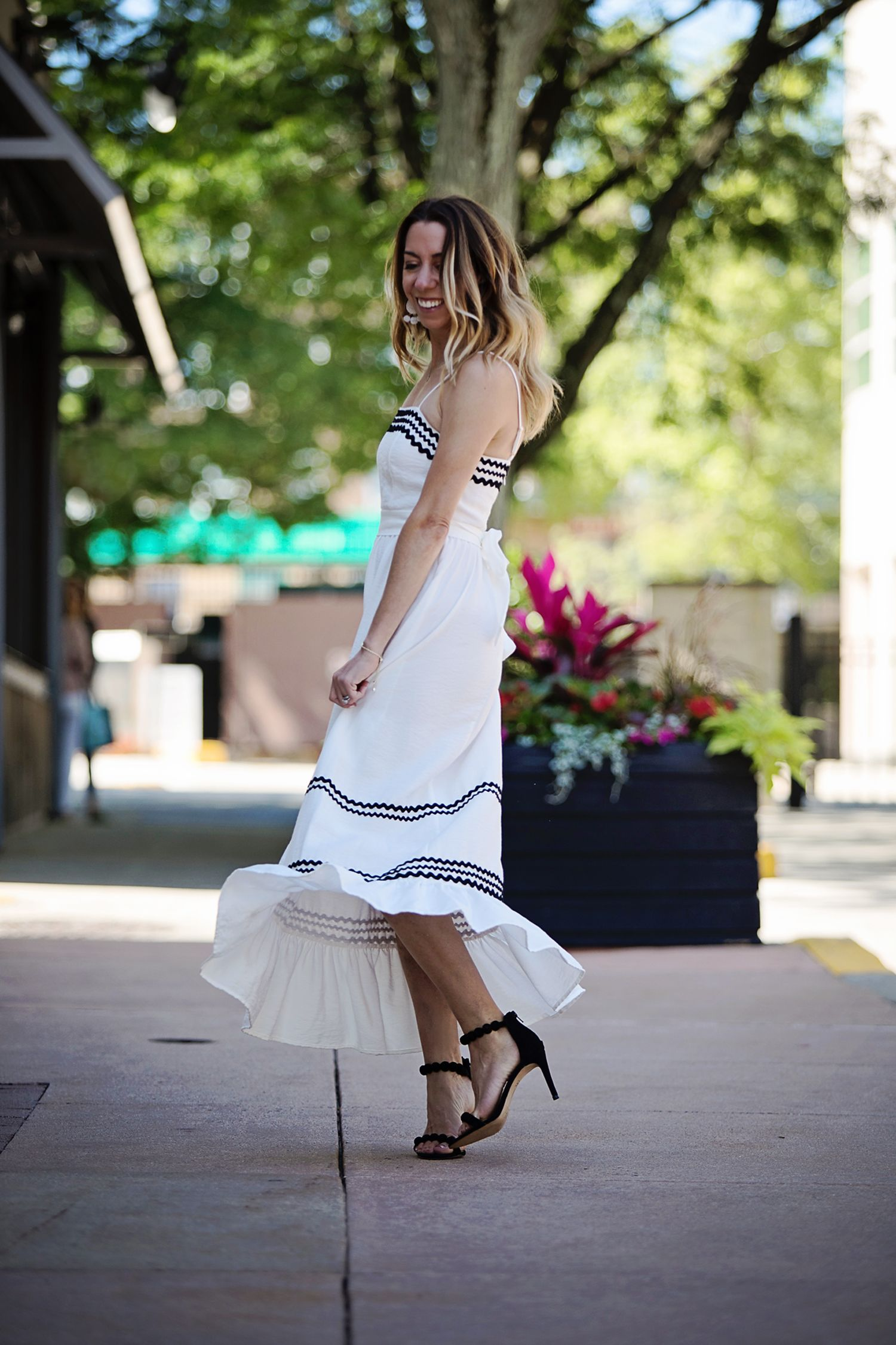 f8c987ab0ab The Motherchic wearing striped cece maxi dress