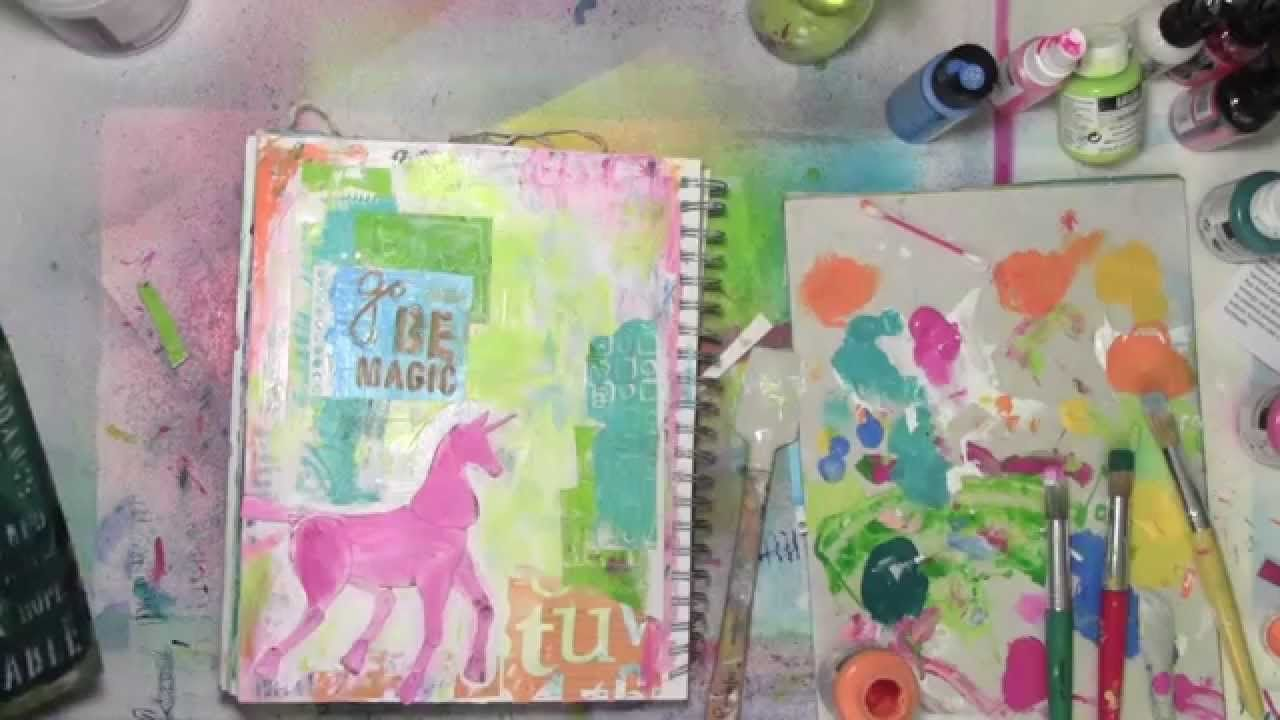 Changing my mind over and over while making an art journal page