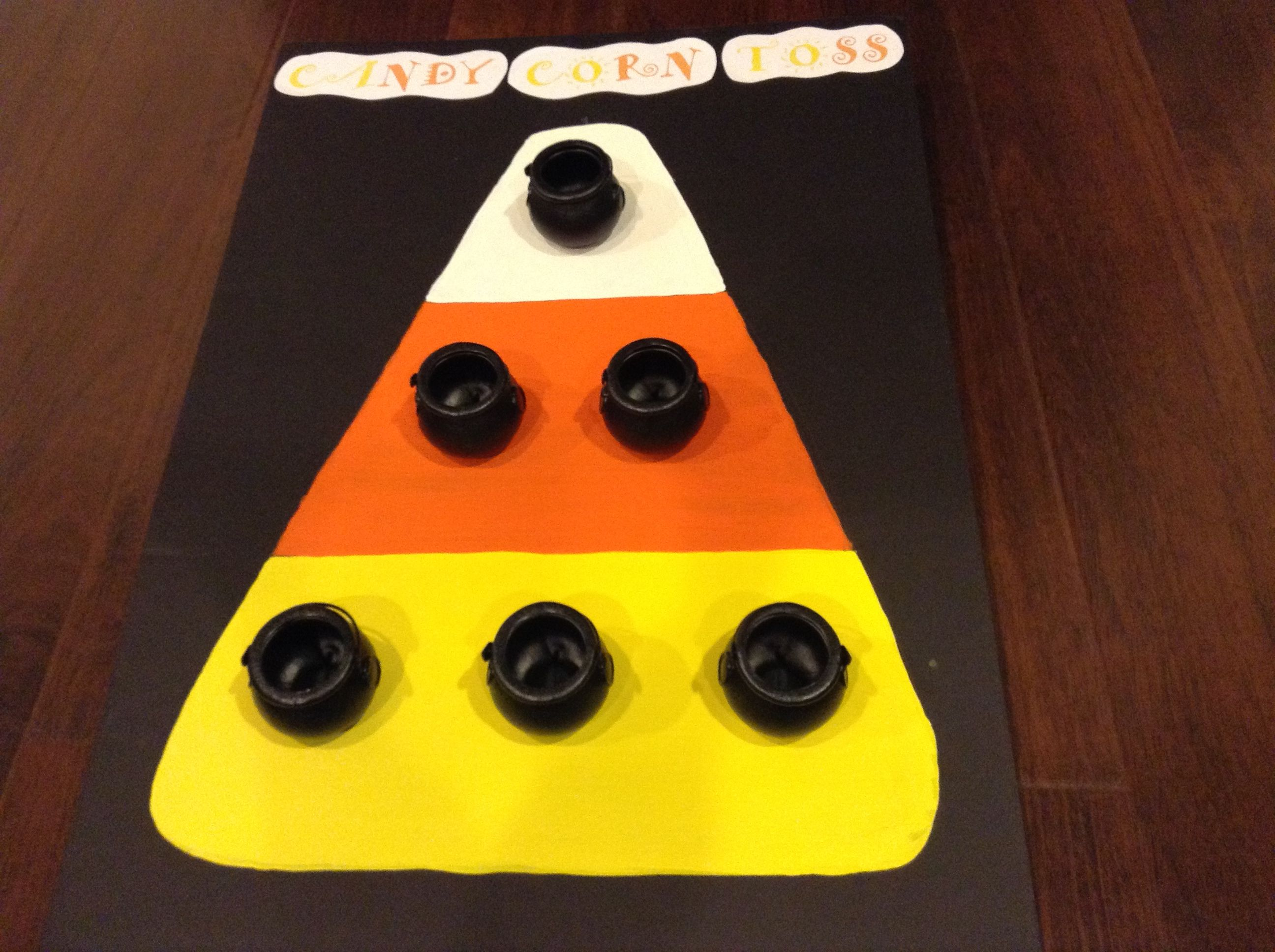 My Candy Corn Toss Game I made for our Cub Scouts Halloween party ...