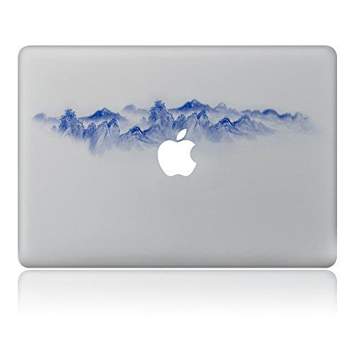 ca9ee3f0b3716 Fantasyhome® Mountain in fog - Laptop Stickers Notebook Decals ...