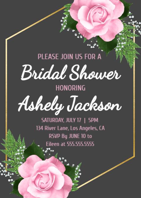 Floral Bridal Shower Invite, Summer Bride, Printable