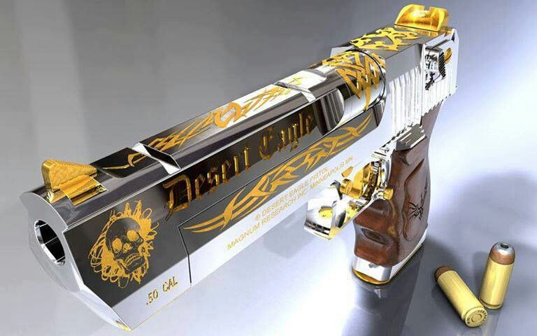 Gold Accented Desert Eagle