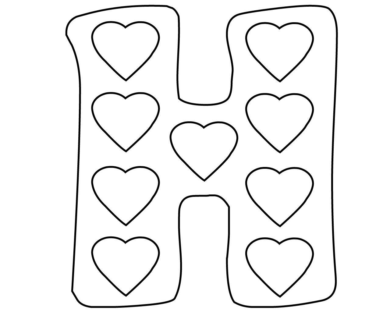 Free Printable Letter H Coloring Pages Lettres Imprimables Gratuitement Lettres Imprimables Coloriage Enfant