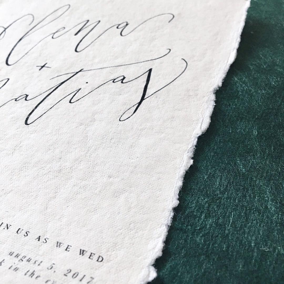 Minimalist Wedding Invitations - Modern Calligraphy - True North ...
