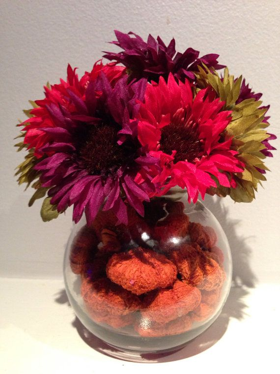 Fall Floral Decor / Harvest Arrangement / Wedding Centerpiece - halloween centerpiece