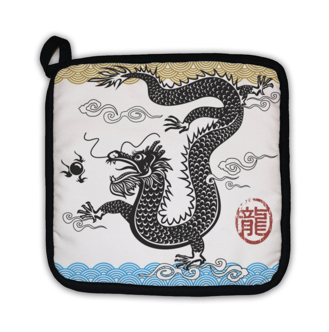 Potholder Chinese Traditional Dragon Pot Holders Traditional