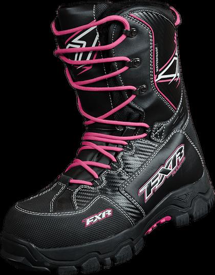 2014 Fxr Women S X Cross Snowmobile Boot Black Fuchsia