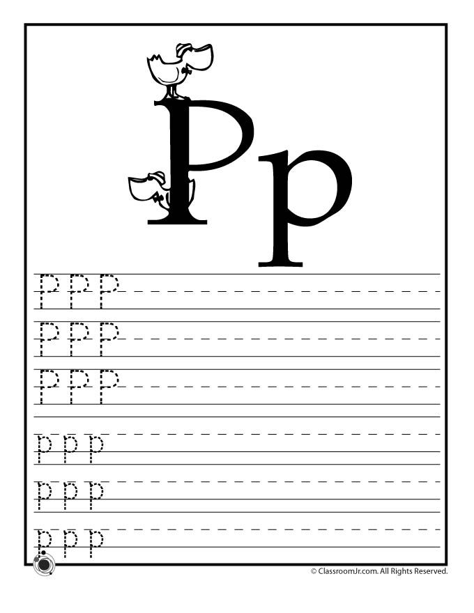 Learning ABC\'s Worksheets Learn Letter P – Classroom Jr. | Home ...