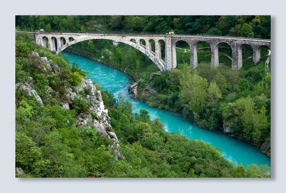 Longest Stone Railway Bridge at Nova Gorica, Slovenia