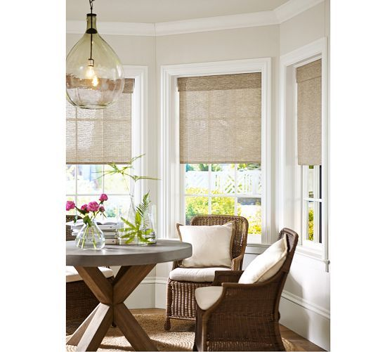 Abbott Concrete Top Round Fixed Dining Table In 2021 Living Room Windows Kitchen Bay Window Farmhouse Window Treatments