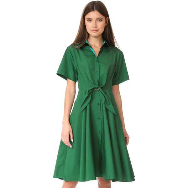 Lucianne color-blocked shirt dress with leggings