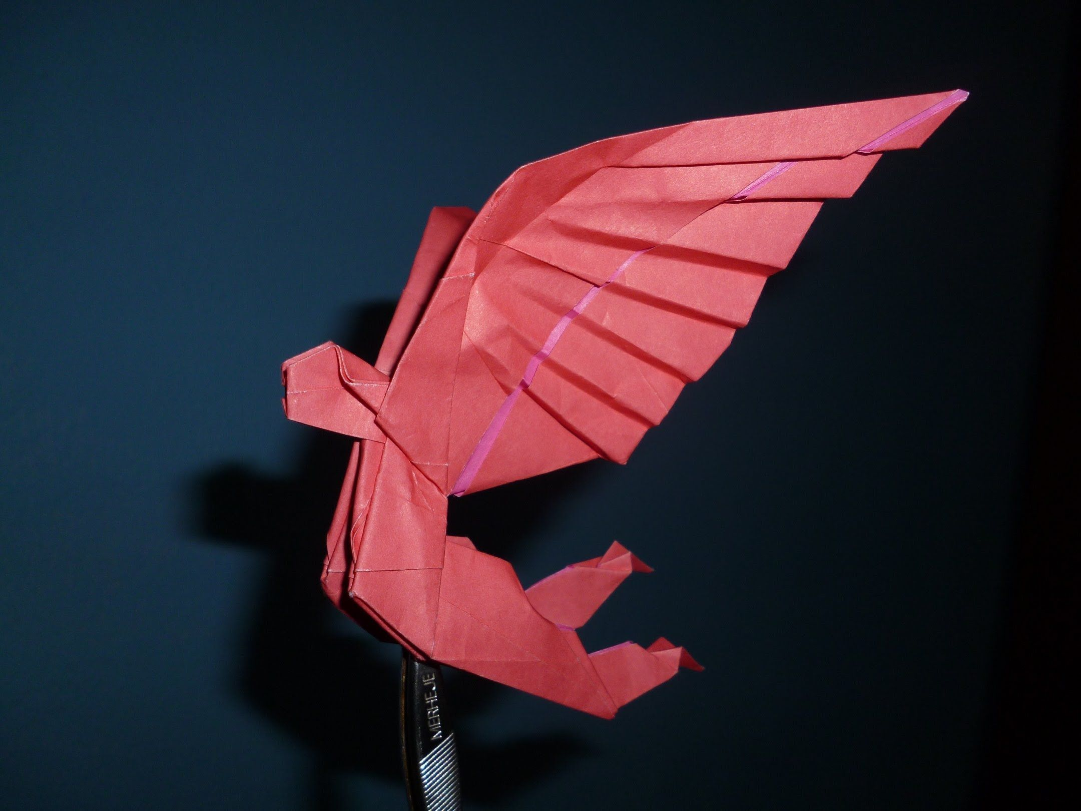 Origami Winged Man Instructions Gabriel Alvarez Youtube Origami Man Origami Wings