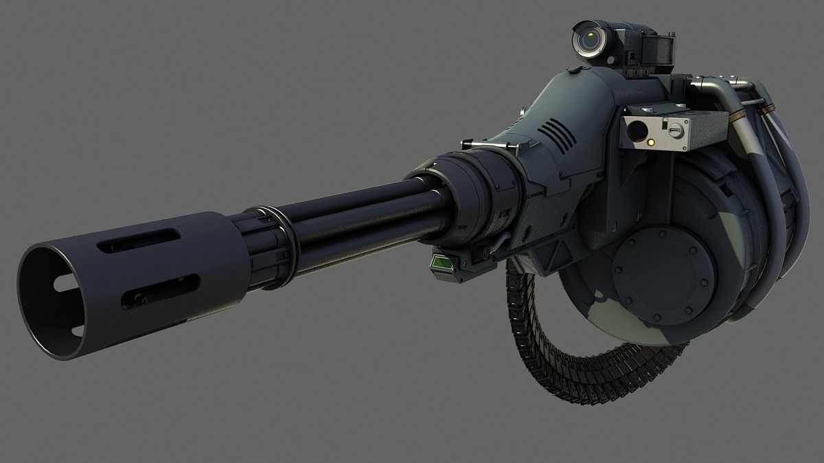 gatling gun 3d max | Weapon | Guns, Concept weapons, Sci fi