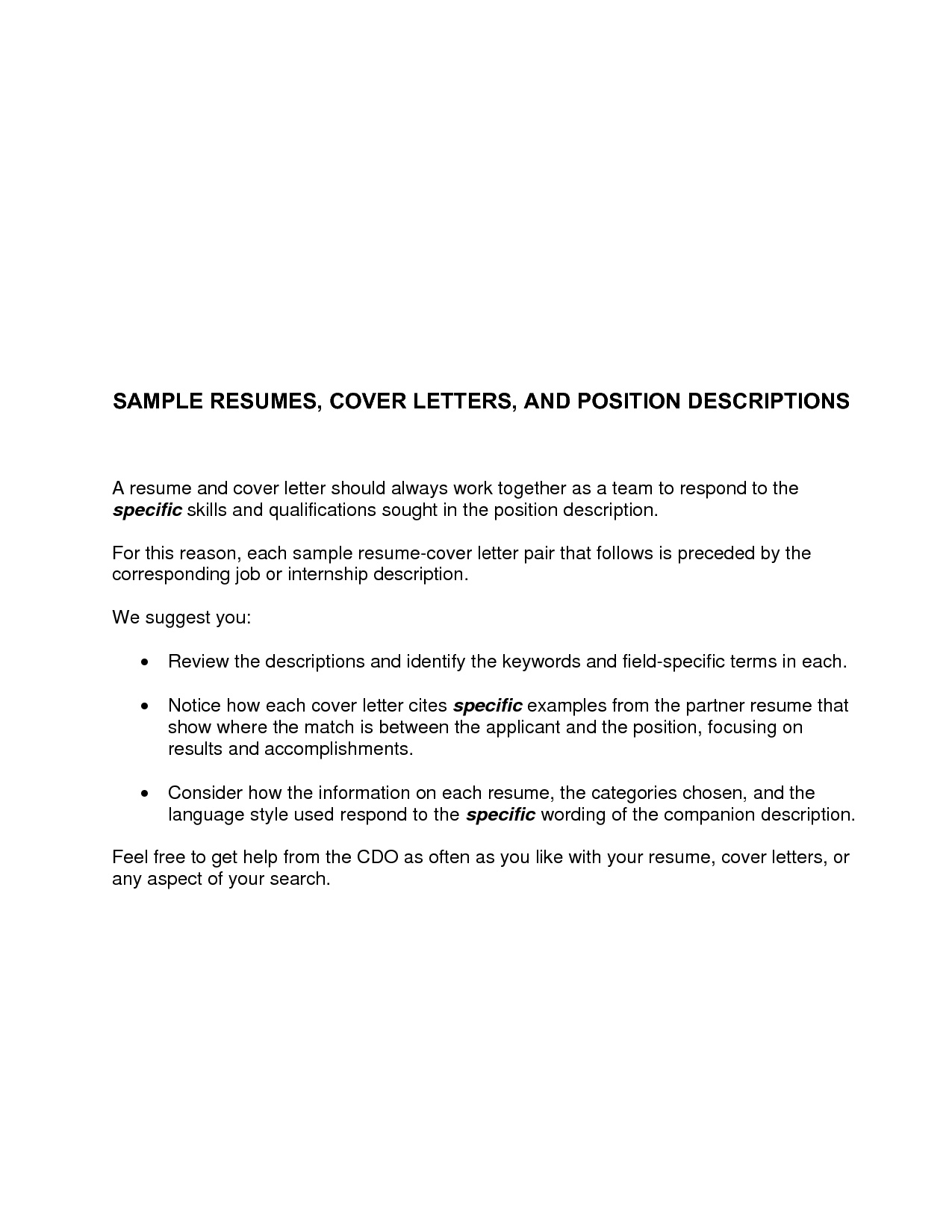 Cover Letters For Resumes Best TemplateSimple Cover Letter ...