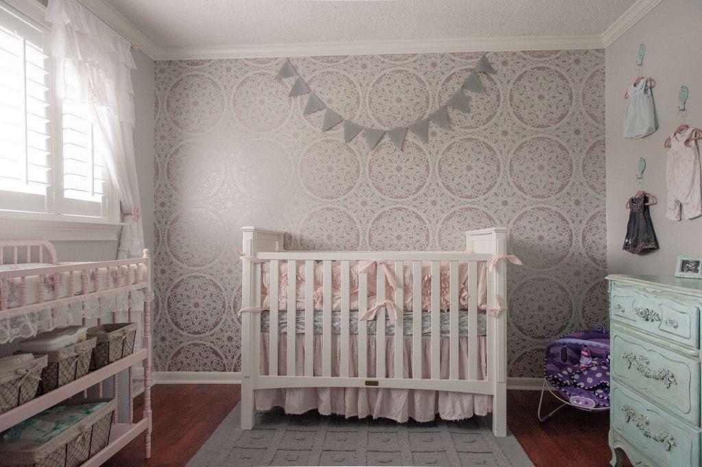 Colette S Shabby Chic Feminine Nursery Project Nursery Grey Nursery Decor Grey Baby Room Yellow Baby Room
