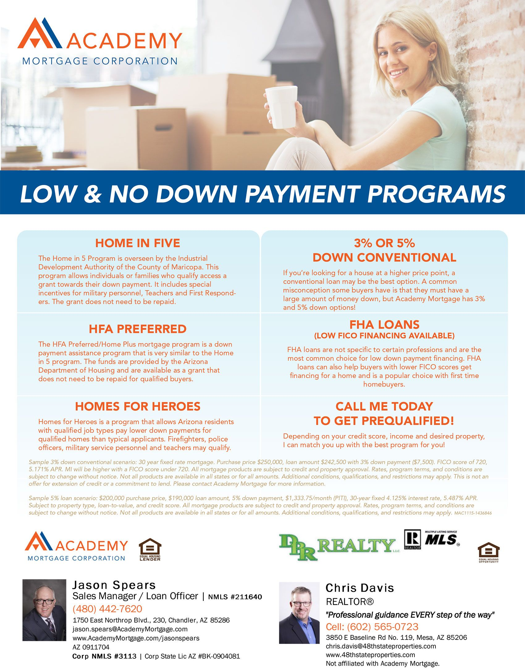 Low or NO Down Payment for your next Home
