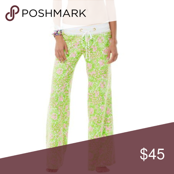 9dff933d69 Lilly Pulitzer Beach Pant in Cabana Pink Sunnyside MAKE AN OFFER. Gently  worn, very comfy. Lilly Pulitzer Pants