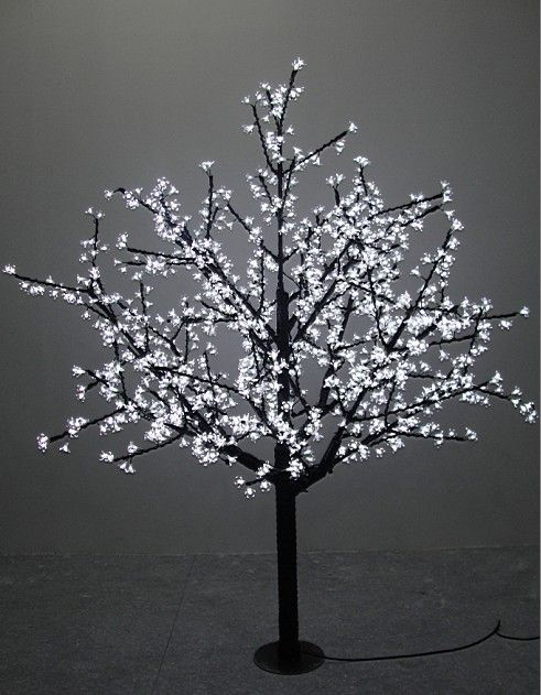 1 5m 5ft Height Outdoor Waterproof Artificial Christmas Tree Led Cherry Blossom Tree Light 480pcs Leds Straight Blossom Trees Tree Lighting Cherry Blossom Tree