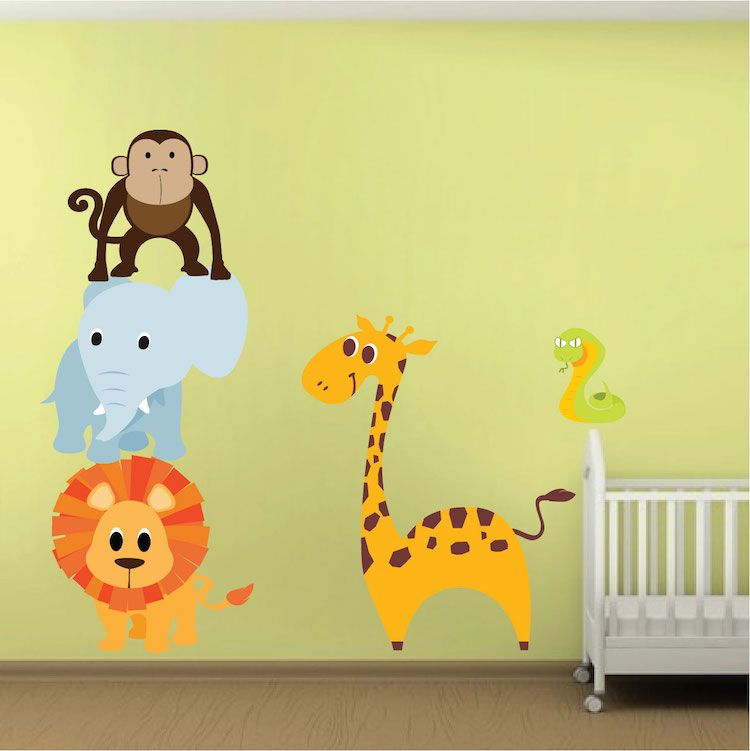 Nursery Zoo Wall Decal Animal Wall Decal Murals Primedecals - Zoo animal wall decals