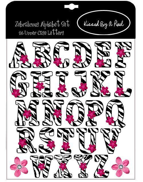 Zebra Print Alphabet Letters Printable Zebra Print Letters T