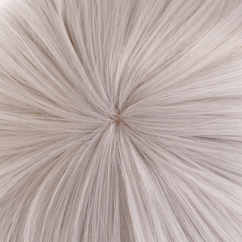 Ccutoo 12 Lol Riven Silver White Short Synthetic Wig Cosplay Costume Wig With Chip Ponytail Heat Resistance Fiber Synthetic None-lacewigs Synthetic Wigs