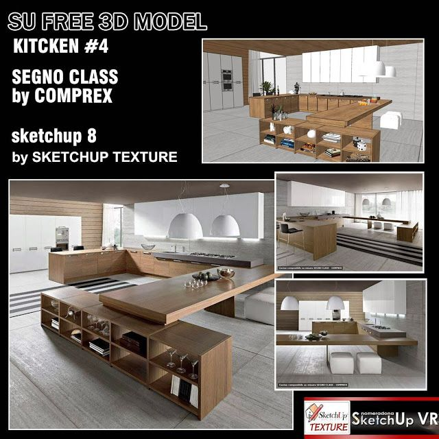 Home Design Software Sketchup: SKETCHUP TEXTURE: FREE SKETCHUP 3D MODEL KITCHEN DESIGN