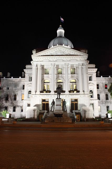 Indiana Capital Building In Downtown Indianapolis Indianapolis Indiana Indiana Capitol Building