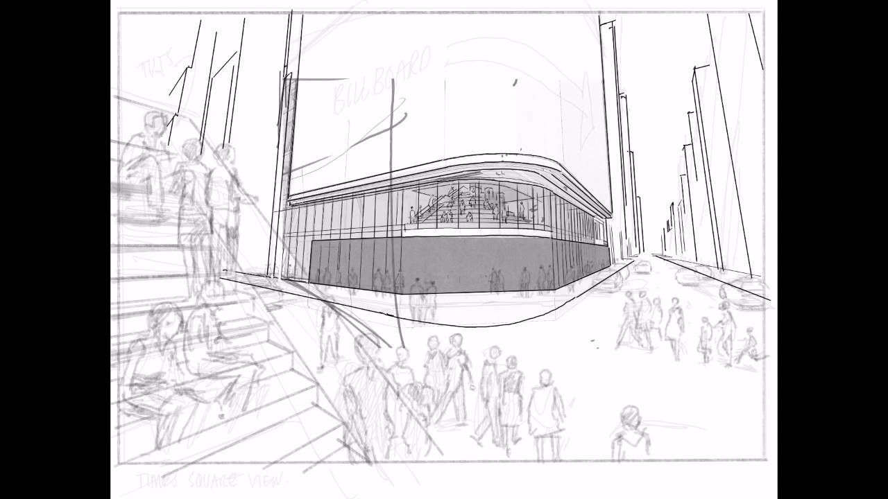 Watch Architect Render Times Square Retail Concept Illustration