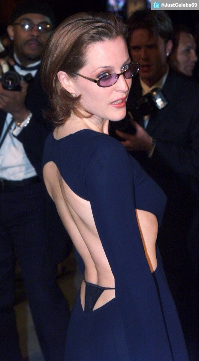Gratuitous #ass #thong shot on the sexy #xfiles star #GillianAnderson