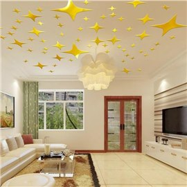 Golden Stars Wall Stickers