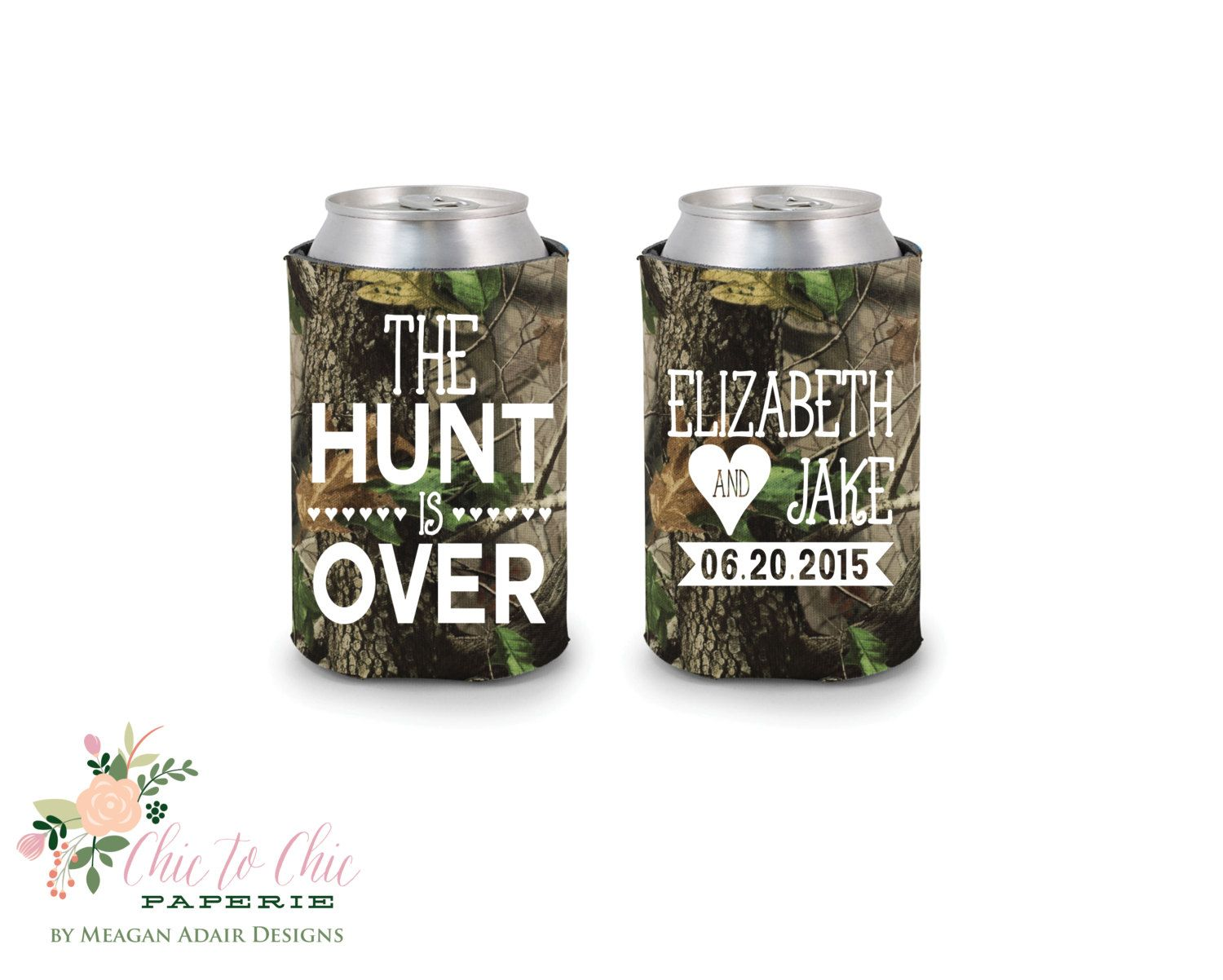 Camo Wedding Favors, The Hunt is Over Wedding, Camo, Personalized ...