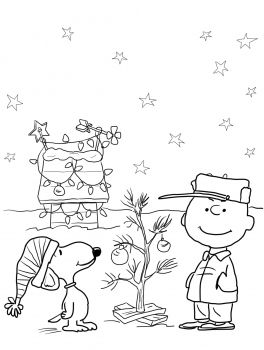 Charlie Brown Christmas Coloring Pages | Coloring | Free ...