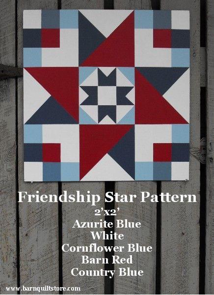 Friendship Star Pattern Barn Quilt Patterns Wooden Barn