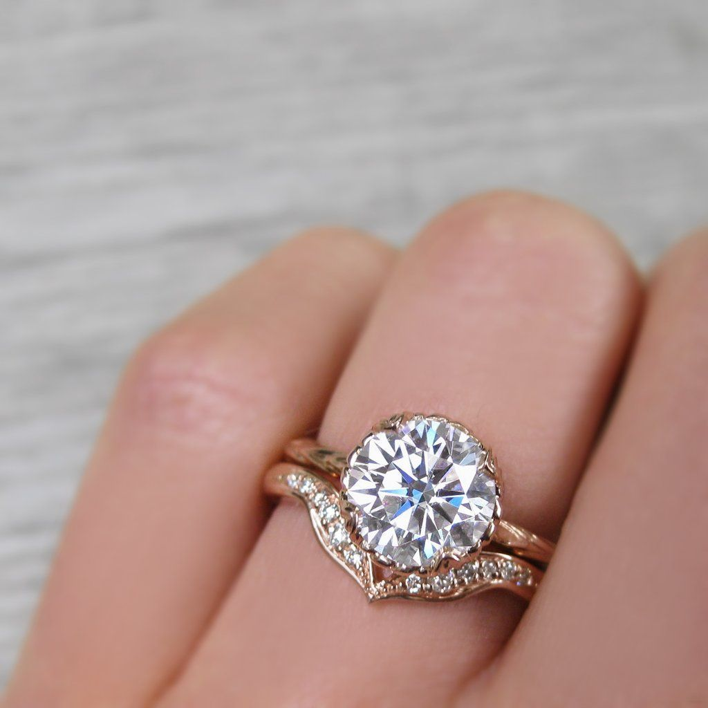 Sienna Moissanite Willow Leaves 1 5ct Buy Wedding Rings Engagement Ring Wedding Band Rose Gold Engagement Ring
