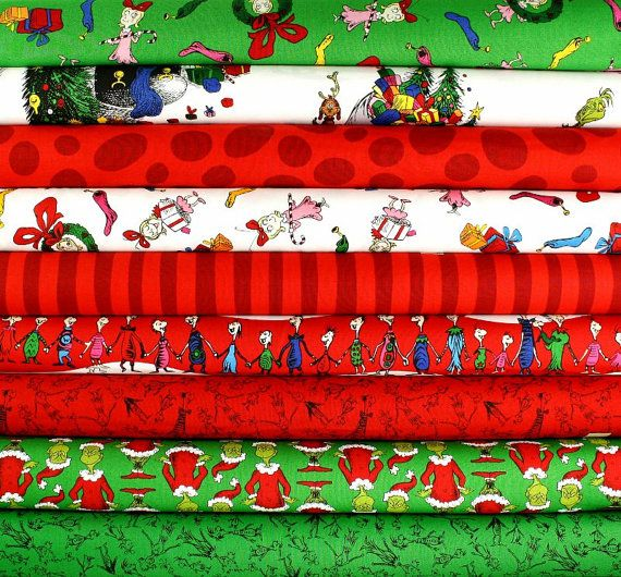etsy $24.75 | Fabric | Pinterest | Grinch, Grinch stole christmas ...