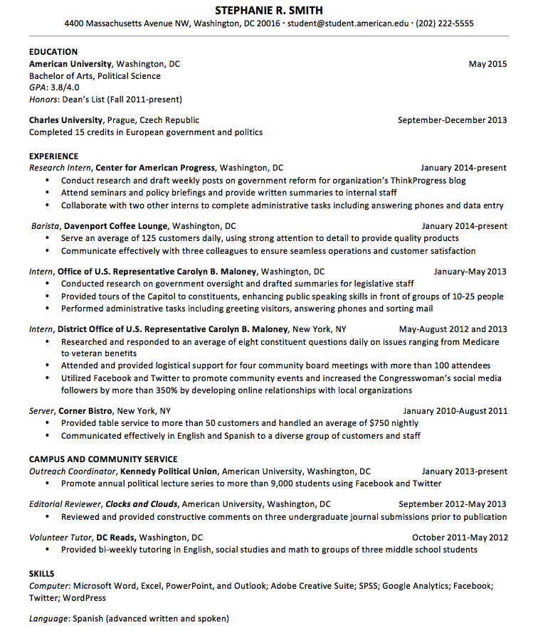 Resume Sample For Upperclassmen  HttpResumesdesignComResume
