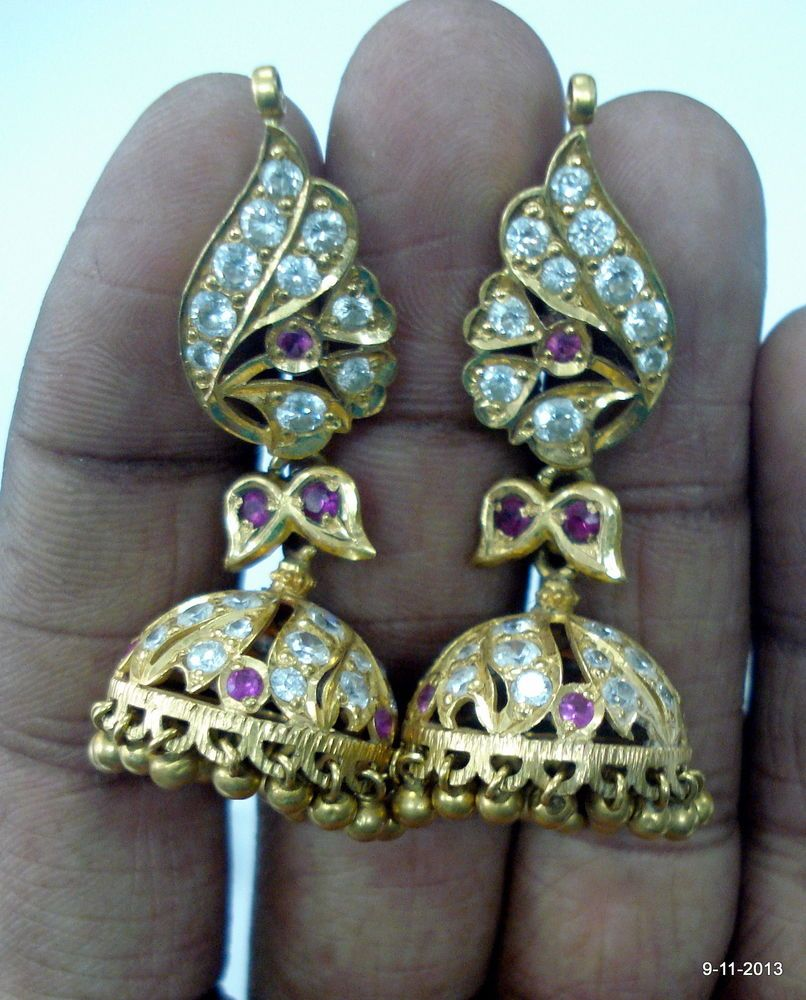 20k gold earrings vintage antique tribal old gold jewelry indian