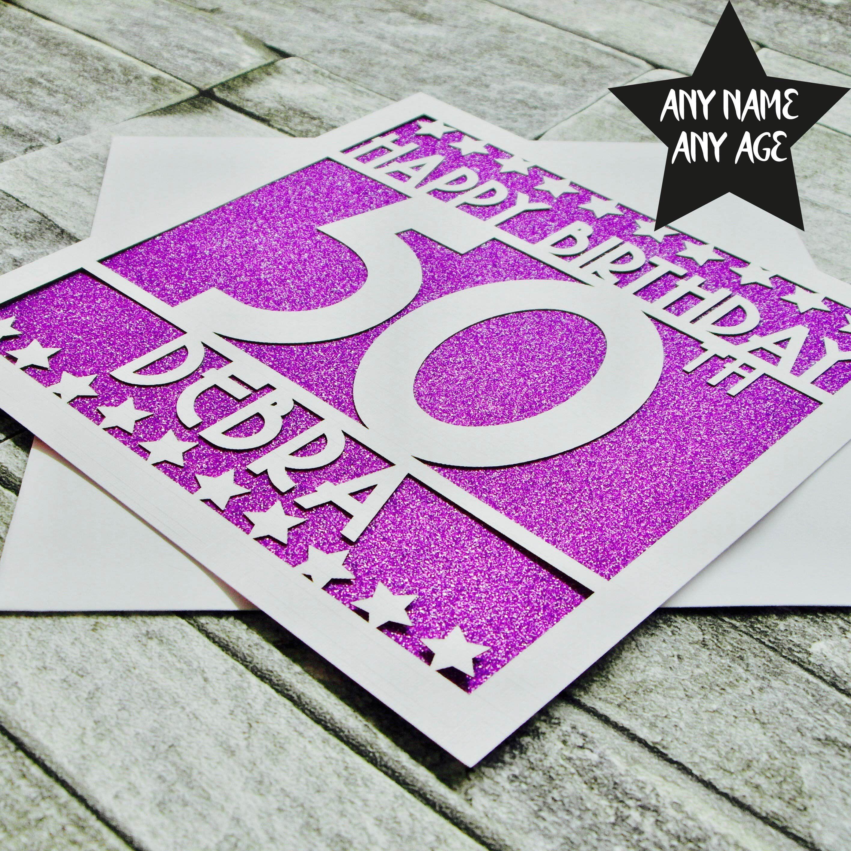 Personalised 50th Birthday Card 50th Birthday Card Fiftieth Etsy 50th Birthday Cards Birthday Cards Fifty Birthday