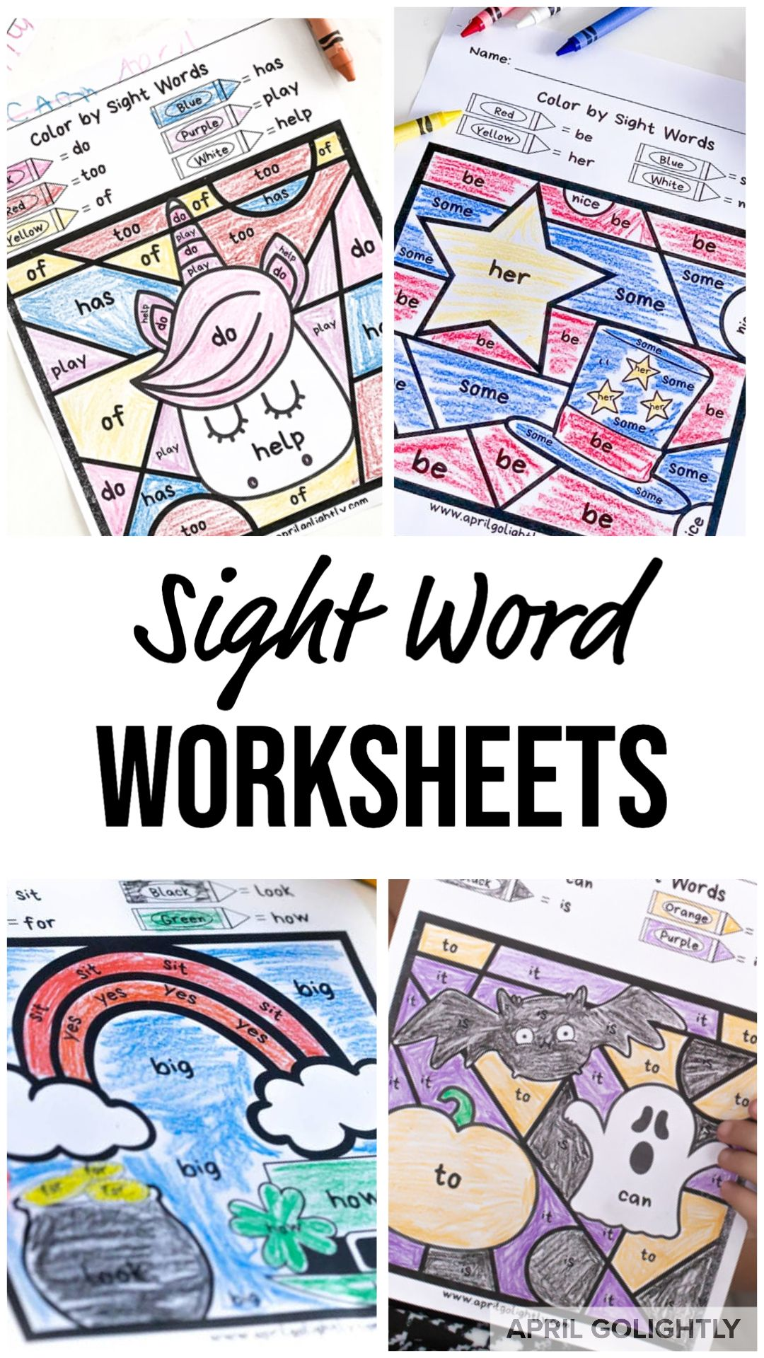 Sight Word Worksheets Free Printables In